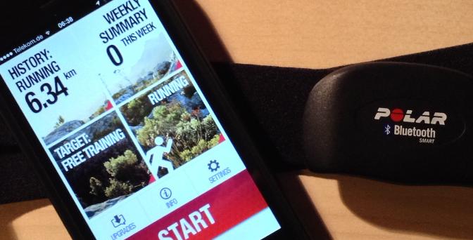 Erfahrungsbericht Pulsgurt Polar H7 und iPhone 5 App Polar Beat