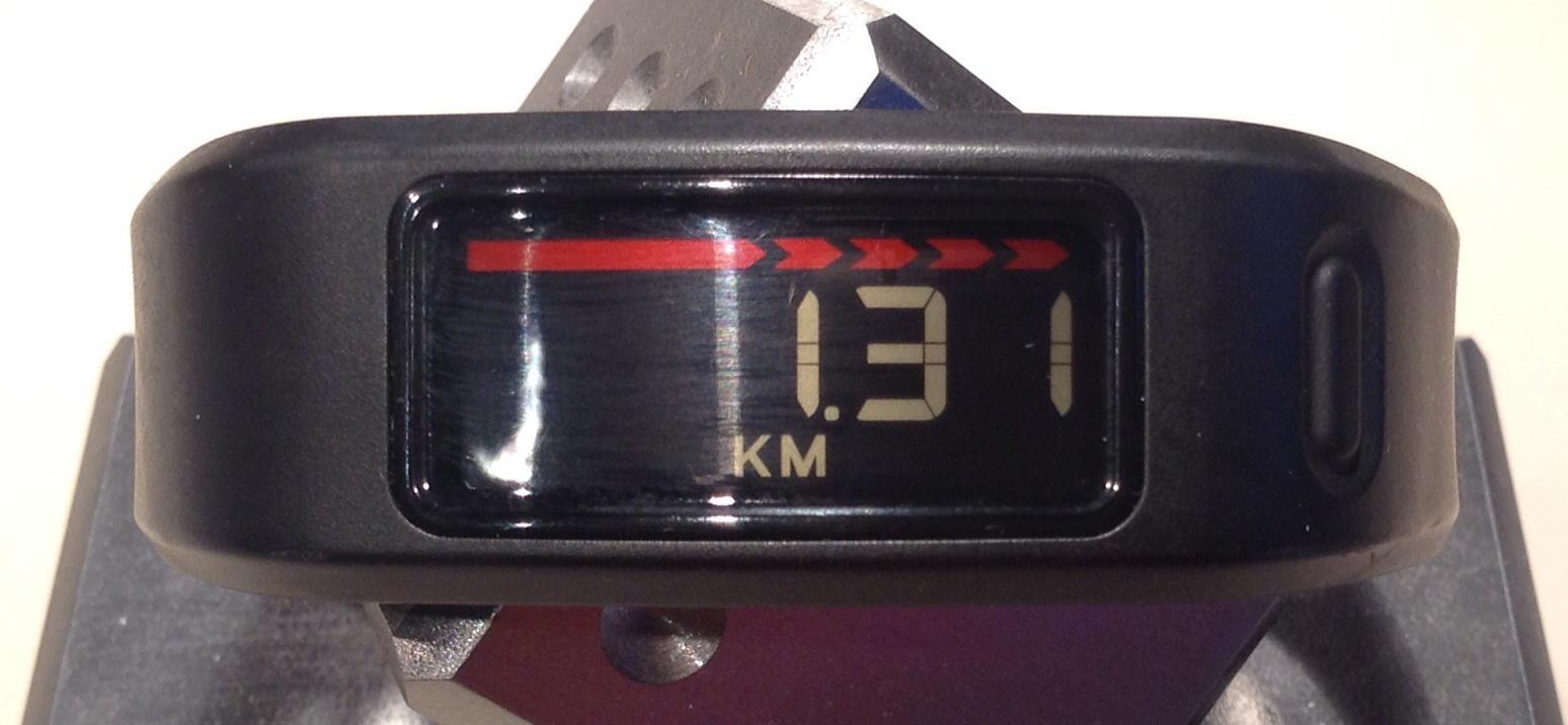 Garmin Vivofit - Zurückgelegte Distanz
