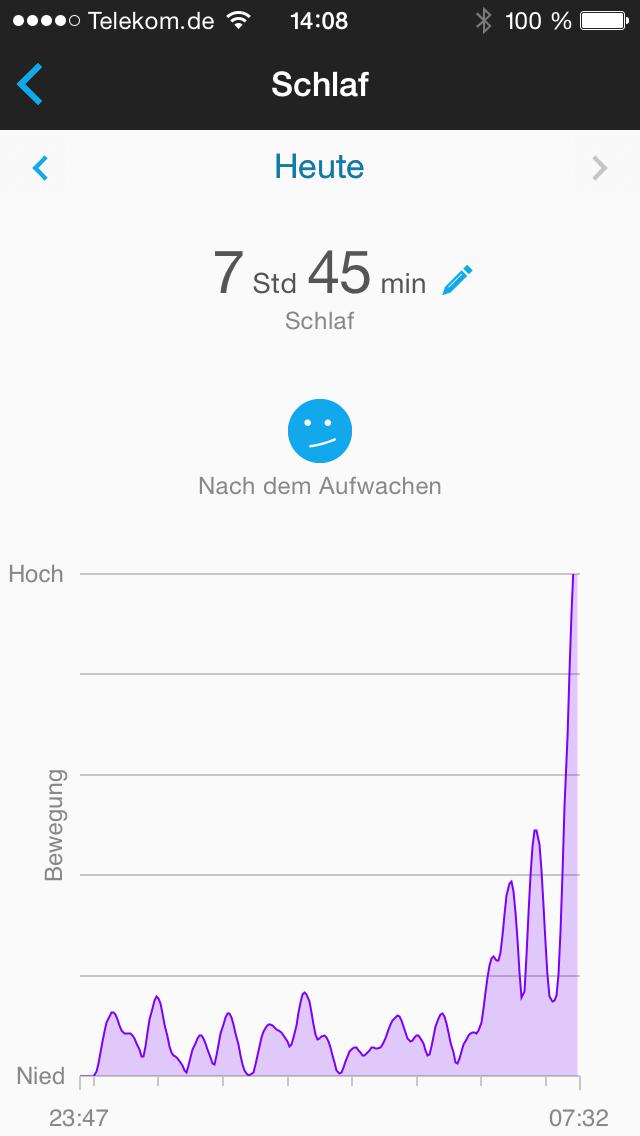 Garmin Connect App - Schlaf