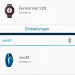 Garmin Connect App - Geräte