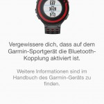 Garmin Connect App - Kopplung FR220