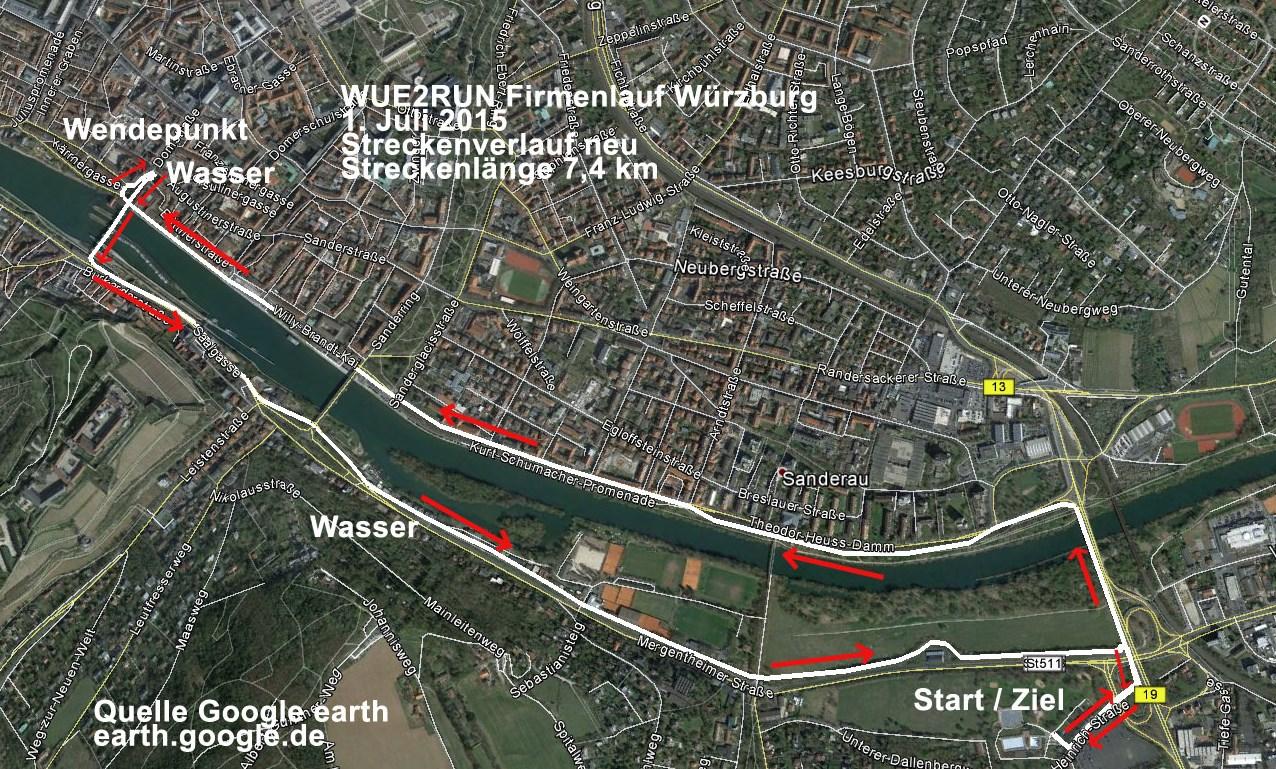 Strecke WÜ2RUN 2015