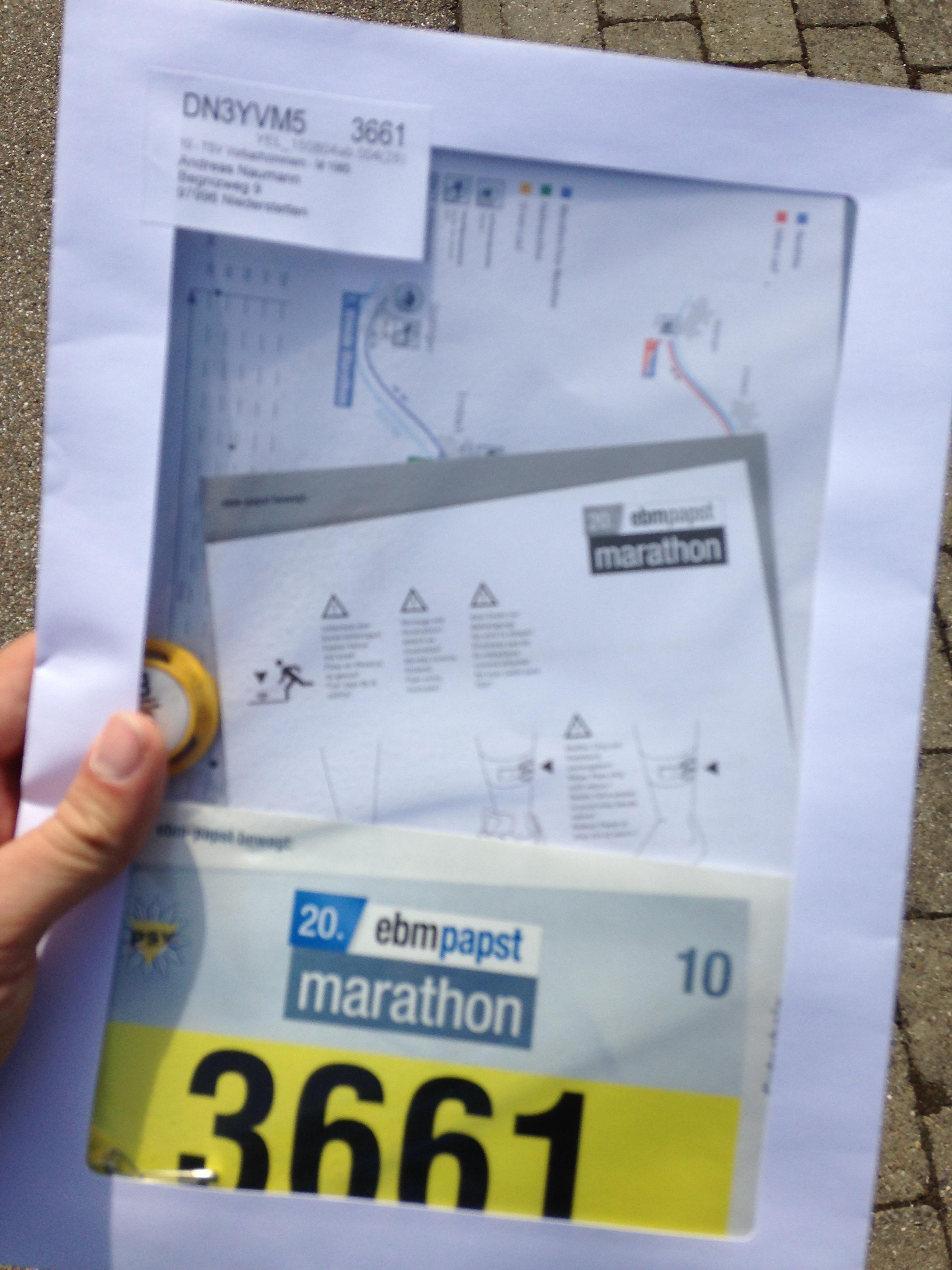 ebmpapast | marathon - Die Startunterlagen