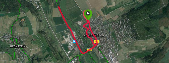 Messelauf 2015 - Strecke