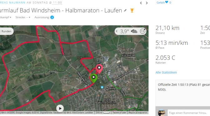 2016 Weinturmlauf Bad Windsheim – Halbmarathon-Premiere