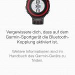 Garmin Connect App - Kopplung FR220